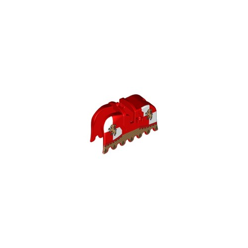 Horse Barding, Ruffled Edge with Gold Lions and Gold Chain Mail Pattern - 2490pb09 LEGO