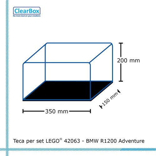 Teca ClearBox per set LEGO 42063 - BMW R1200 Adventure